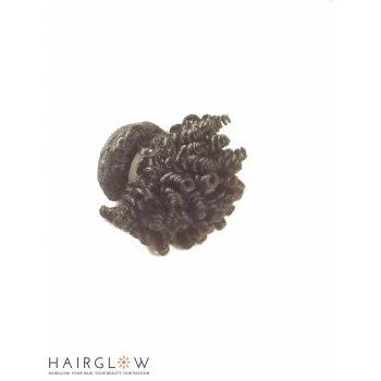 "Virgin hair 8"" Mongolian Afro kinky virgin Hair Extension"