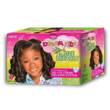 AfricanPride Dream Kids Olive Miracle No-Lye Relaxer Kit,Regular