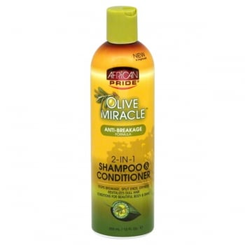 AfricanPride Olive Miracle 2in 1 Shampoo/Conditioner