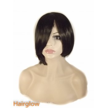 Hairglow Black side part wig