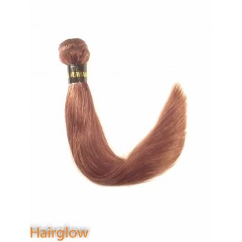 "Brazilian Hair 10"" Brazilian Yaki Remy hair extension, Dark Auburn"