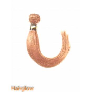 """Brazilian Hair 10"""" Brazilian Yaki Remy hair extension,Medium Auburn"""