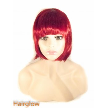 Hairglow Full Fringe Red Bob