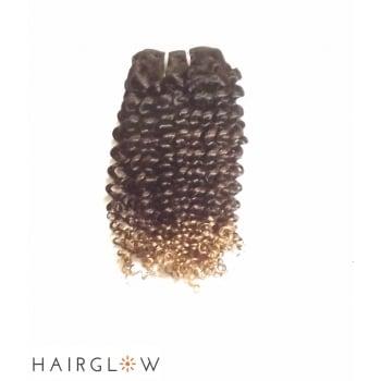 "Hairglow 14"" Ombre Brazilian Kinky Human Hair Extension"