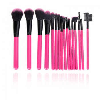 Hairglow 16pcs  Pink Professional Makeup Brushes Set