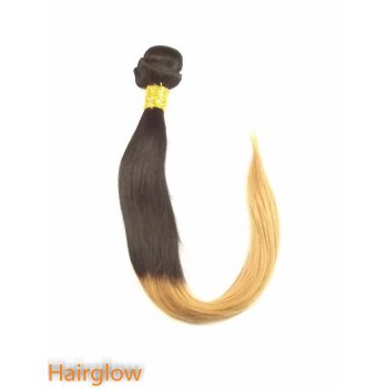 "Hairglow 18"" Ombre Brazilian Straight Human Hair Extension"
