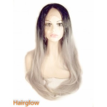 "Hairglow 24""  Ombre Straight Lace front Wig"