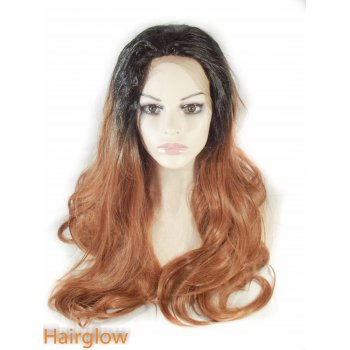 "Hairglow 26"" Straight Ombre Lace Front Wig"
