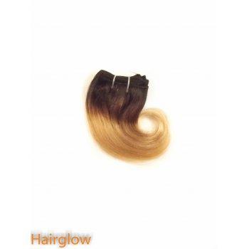 "Hairglow 8"" Ombre Brazilian Wavy human hair extension"