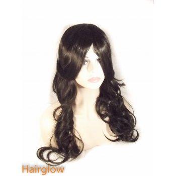 Hairglow Black Bodywave synthetic Wig