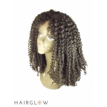 Hairglow Black kinky curly  Lace Front Wig