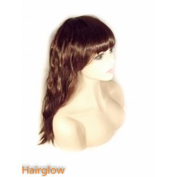 Hairglow Dark Brown Kinky Human Hair Wig