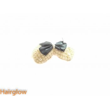 Hairglow Fashion Bow Pearl Hairpin