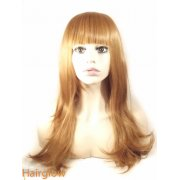 Honey Blonde silky straight  Human Hair Wig