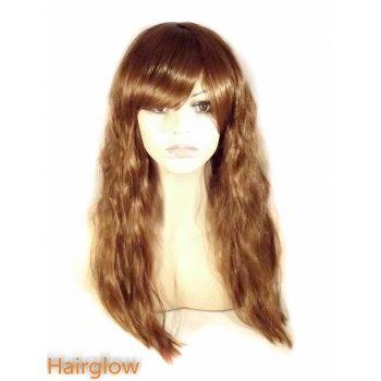 Hairglow Light Brown Kinky Human Hair Wig