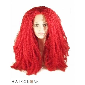 Hairglow Red  Afro Kinky Lace Front Wig