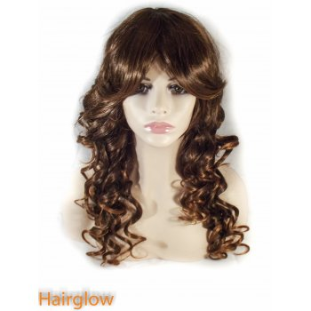 Hairglow Light Brown Curly Human Hair Wig