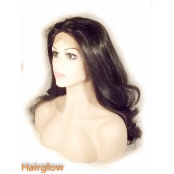 Hairglow Natural Black wavy  Lace Front Wig