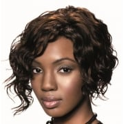 Sleek Human Hair Wig,Retro