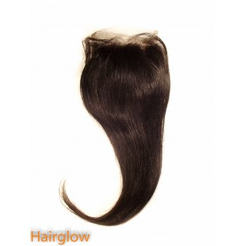 "Virgin hair 12"" Straight Brazilian Lace Closure"