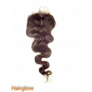 "Virgin hair 16""   BodyWave Mongolian Lace Closure"