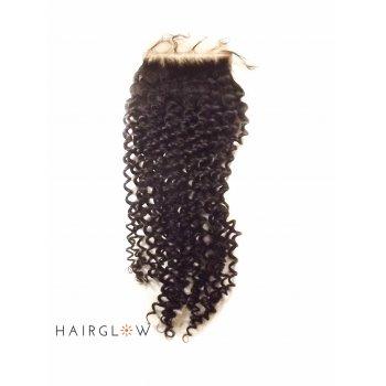 """Virgin hair 16"""" Mongolian Kinky curls Lace Closure"""