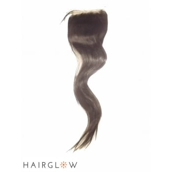"Virgin hair 16"" Straight Brazilian Remy Lace Closure"