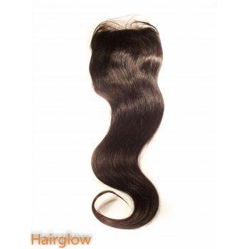 "Virgin hair 16"" Straight Mongolian Lace Closure"