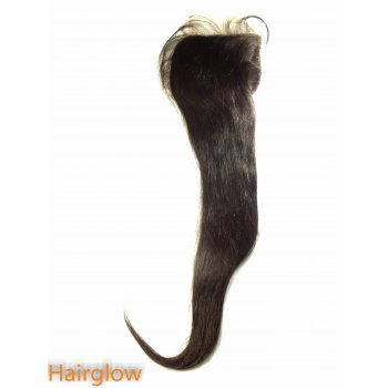 "Virgin hair 18"" Straight Peruvian Lace Closure"