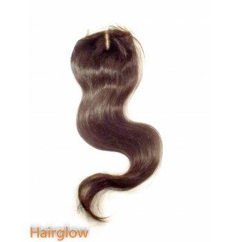 "Virgin hair 18"" Straight Peruvian Lace Closure"