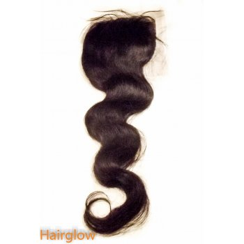 "Virgin hair 20"" Wavy Brazilian Lace Closure"