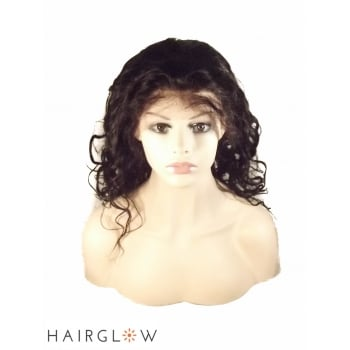 Virgin hair 20inches Malaysian Natural wave Lace front wig