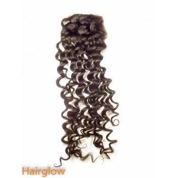 "Virgin hair 22"" Brazilian Deepwave  Lace Closure"