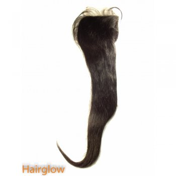 "Virgin hair 22"" Straight Brazilian Lace Closure/Free Part"